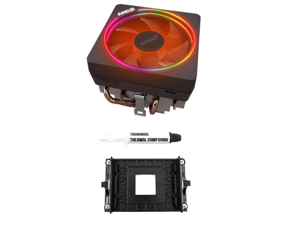 AMD Wraith Prism RGB LED Lighting Socket AM4 4-Pin PWM CPU Cooler With Aluminum Heatsink & Copper Core Base & 4.13-Inch Fan With TRONWIRE Thermal Paste & AM4 Bracket For Desktop PC Computer