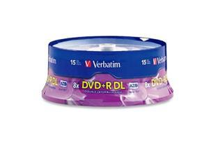 Verbatim DVD+R DL 8.5GB 8X AZO with Branded Surface - 15Pk Spindle