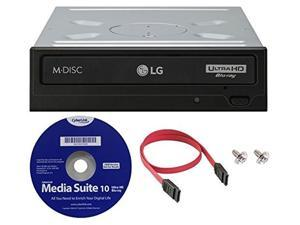 LG WH16NS60 16x Internal Blu-ray BDXL M-Disc Drive (with Ultra HD 4K Playback) Bundle with Cyberlink Software and SATA Cable