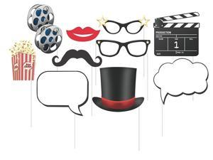 Value 2-Pack Creative Converting Sparkle Spa Party 10 Assorted Photo Booth Props