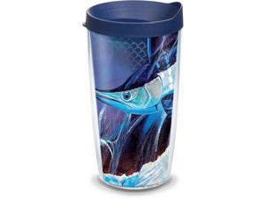 16 oz Tritan Clear Tervis 1318967 Grandma Large Blooms Insulated Tumbler with Wrap and Lid