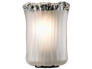 Brushed Nickel Justice Design Group Lighting FAB-8502-30-WHTE-NCKL-LED2-1400 Textile-Argyle 2-Light Bath Bar-Oval Shade-White-LED