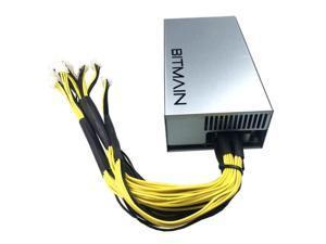 1800W ATX PSU BTC LTC DASH BITMAIN APW7 1800W Power Supply For Antminer S9 S9i Z9 L3+ D3 T9+ E3 Innosilicon A9 D9 A10 ETH PSU