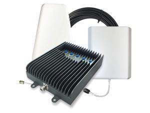 SureCall Fusion5s Voice, Text & 4G LTE Cell Phone Signal Booster for Large Buildings up to 6,000 sq ft - Yagi/Panel