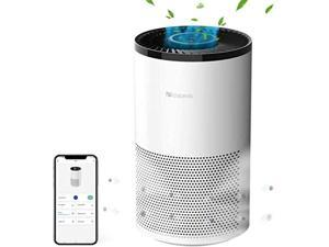 Proscenic A8 Smart WiFi Air Purifier for Home with H13 True HEPA Filter for 430 Sq. Ft, APP & Alexa Control, 99.97% Air Cleaner for Smokers Allergies, Pets Hair, Dander, Pollen, Smoke, Dust, Odors