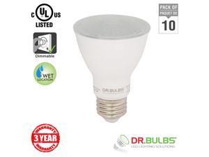 Dr. Bulbs (10-Pack) Par20 7W Soft White (3000K) LED Bulb - 3 Year Warranty