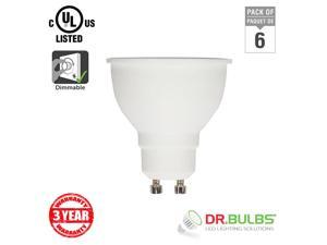 Dr. Bulbs (6-Pack) MR16 GU10 5W Soft White (3000K) LED Bulb - 3 Year Warranty