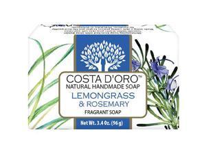Siege Natural Soap, Lemongrass & Rosemary scented, 5506