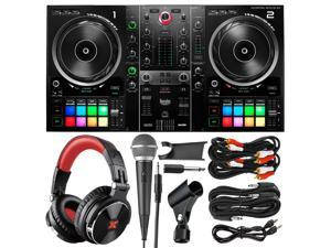 Hercules DJControl Inpulse 500 DJ Software Controller with XPIX Pro DJ Headphones, Dynamic Microphone, and Essential Cables