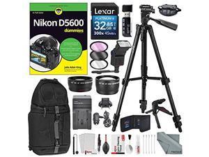 for Sony DSC-HX400 DSC-H400 DSC-HX300 Accessory Kit Nikon D5600 D3500 D3400 with AF-P 18-55mm Lens Wide Angle-Telephoto-Filters-Lens Hood /&More