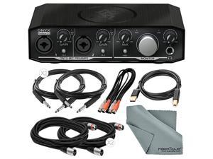 Mackie Onyx Series Producer 2-2 USB/MIDI Audio Interface with MIDI/XLR/TRS/USB Cables and Cleaning Cloth Basic Audio Bundle
