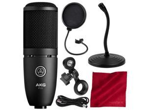 AKG Perception 120 - Large-diaphragm Cardioid Condenser Microphone with Bass Roll-off Switch and 20dB Pad