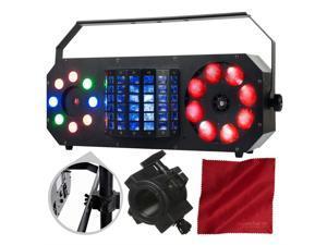 American DJ Boom Box FX2 StarTec Series Multi-Effect Light and Accessory Bundle