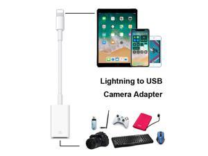 Lightning to USB Camera Adapter OTG Cable Data Transfer Cable for iPhone iPad