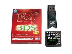 WiFi R4I-SDHC 3DS RTS Flash Card+Adapter Kit for NDS, NDSL, NDSI, 3DS, 3DSLL, NEW 3DSLL