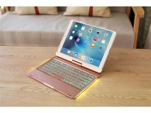 "For iPad Pro 10.5"" Backlit Light Wireless Bluetooth Keyboard Case Cover Fashion Luxury Ultrathin Ultralight Keyboard Shell With Automatic Sleep Function (Gold)"
