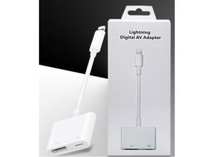Lightning Digital AV Adapter HDMI and Fast Charging Adapter, for iPhone, iPad, MacBook and Other Apple Devices
