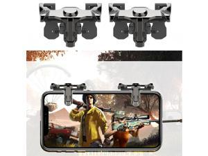 1Pair New Mobile Phone Gaming Gamepad Trigger Fire Button Aim Key L1R1 Shooter Controller for FPS Fortnite PUBG