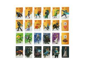 22 Full Set ZELDA BREATH OF THE WILD NFC PVC TAG Card for Switch Wii U, 20 Hearts WOLF LINK, No Repeat