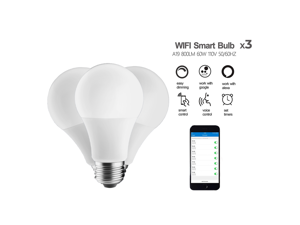 eco4life by Sonicgrace 3 Pack WiFi Smart Color Changing LED Bulb Works with Amazon Alexa /Google Assistant, No Hub Required