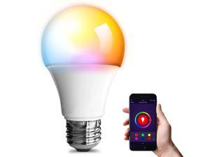 eco4life by Sonicgrace WiFi Smart Color Changing LED Bulb, Single Pack, A19/E26, Works with Amazon Alexa, the Google Assistant, IFTTT, No Hub Required
