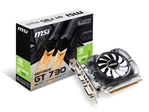 MSI GeForce N730-2GD3V3 Graphics Card, Fan Heatsink, PCI-E 2.0, DVI, HDMI, D-Sub