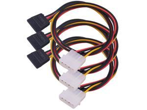 Cable Matters 3 Pack 4 Pin Molex to SATA Power Cable Adapter Extension cord 19.6Inches