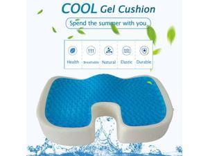 U-shape Seat Cushion Polyurethane Slow Rebound Sponge Gel Pillow Coccyx Orthopedic Memory Foam Cool Seat Cushion Pain Relief