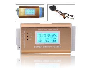 DP-iot Digital LCD PC voltageTester 20/24 Pin 4 PSU ATX BTX ITX SATA HDD hard disk PCI-E graphics Power Supply  robust voltage tester