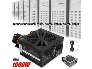 1000W Power Supply PSU PFC Silent Fan ATX 24pin 12V PC Computer SATA Gaming PC Power Supply For Intel AMD Computer
