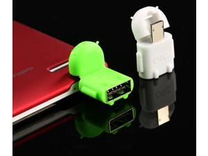 10Pcs/Lot Android Robot Shaped Micro USB to USB OTG Adapter Cable for Smart Phone Galaxy S3 S4 Note2