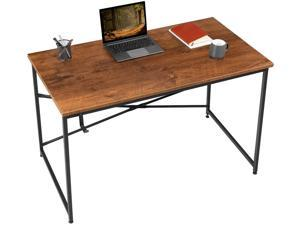 Furmax Computer Desk, 44 Inch Home Office Writing Study Work Desk, Modern Industrial Simple Style Laptop Table with Headphone Hook for Small Space, Bedroom, and Workstation