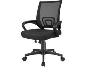 Furmax Mesh Computer Desk Swivel Ergonomic Lumbar Support Home Office Task Chair (Black)