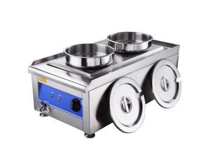 GHP 7-Liter Pot Capacity Stainless Steel 1200W 110V Electric Commercial Food Warmer