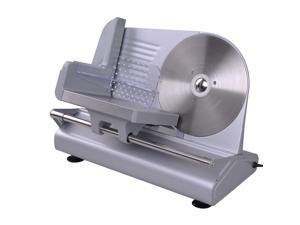 "GHP 8.5"" Stainless Steel Blade 150W Electric Meat Food Slicer with ABS Food Pusher"