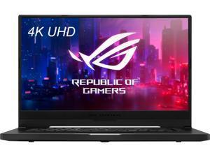 "ASUS ROG Zephyrus M15 15.6"" 4K UHD Gaming Laptop, 2.6GHz Intel Core i7-10750H, 16GB RAM, 1TB SSD, NVIDIA GeForce RTX 2060, Windows 10 Home - Prism Black - GU502LV-BI7N8"