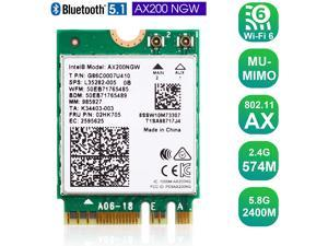 EDUP WiFi 6 M.2 Module AX 3000Mbps Network Adapter with Bluetooth 5.1 Wireless Wi-Fi 6 Card 2.4G/5Ghz 802.11ax MU-MIMO for Laptop PC with Windows 64 bit - Intel Model AX200NGW