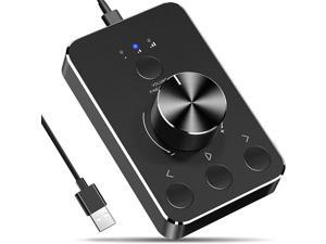 Audio Adapter, Sanne Multimedia Controller Knob with One-Click Mute Function and 3 Volume Control Modes Audio Adjuster Volume Controller for Win7/8/10/MAC