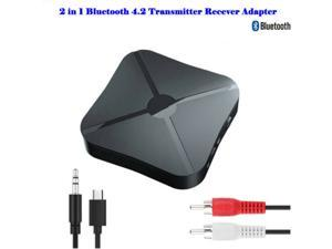 Bluetooth Adapter 2 in 1 Bluetooth 4.2 Receiver Transmitter 3.5mmJack for TV Headphones Speakers Stereo Audio Adapter