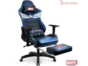 MARVEL Avengers Gaming Chair Desk Office Computer Racing Chairs - Recliner Adults Gamer Ergonomic Game Footrest Kids Reclining High Back Support Racer Leather Rocker Foot Rest - Captain America
