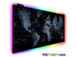 LED Flash Gaming Mouse Pad RGB Glowing Anti-slip Gamer Grande Mouse Keyboard Mat Expand Keyboard Pad 900*400*4mm /35.43*15.75*0.16 inches