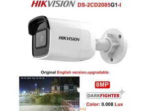 Hikvision Original DS-2CD2085G1-I 8 MP IR Fixed Bullet Network Camera Darkfighter IR 30M, up to 128 GB IP67, IK10 Poe IP Camera 4MM