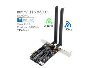 Intel AX200 9260AC 5G Dual Band 2400M PCIE Desktop Wireless Card Bluetooth Nice