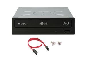 LG WH16NS40 16X Blu Ray DVD CD Burner Drive Writer + SATA Cable, Screws