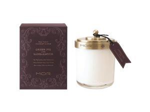 Mor Scented Home Library Green Fig and Sandalwood Fragrant Candle 13.4oz