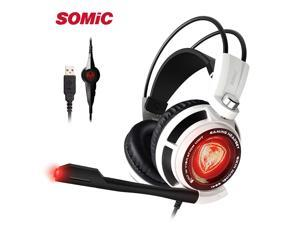 SOMIC G941 USB Gaming Headphones 7.1 Virtual Surround Sound Headset with Microphone and Vibration For PS4 PC Video Games