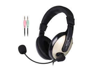 SENICC ST-2688 Stereo Audio Headset with Mic 3.5mm Dual Plugs, Computer Headphones for School Teaching Video Chat Online Class