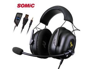 SOMIC G936N Driver Free Virtual 7.1 Sound Noise Cancelling Gaming Headset with microphone for PS4 XBOX ONE Laptop