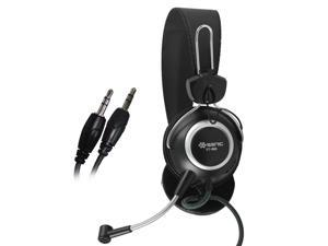 SENICC ST-818 Wired Over Ear Stereo Audio Headphones with 3.5mm Jack and Microphone for Desktop Laptop PC Skype Phone Talking