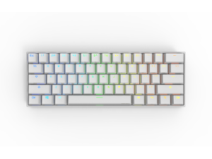 Anne Pro 2 Wired/ Wireless White Gaming Mechanical Keyboard 60% RGB Bluetooth 4.0 PBT Key Cap N-Key Roll Over Type-c Blue Switch (White)